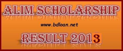 Alim Scholarship Result 2013