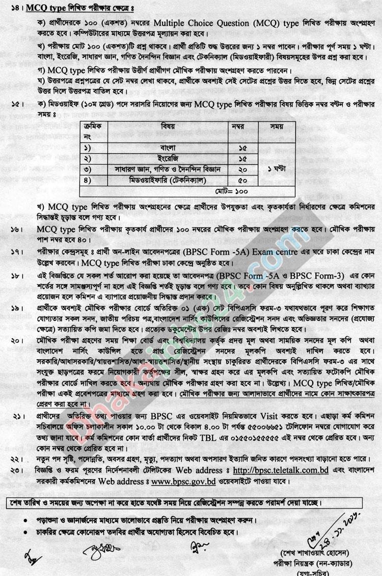 BPSC.GOV.BD Non Cadre Job Circular 2016