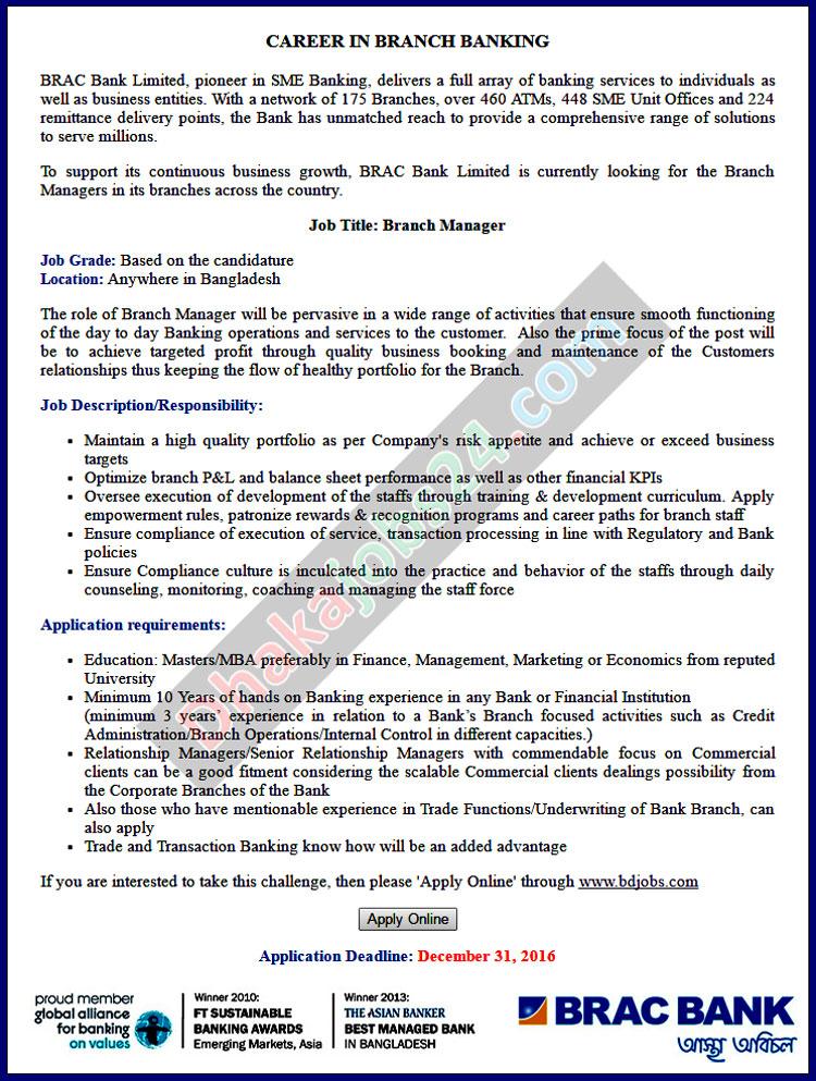 brac bank Brac bank mto job application form download - bdjobscom.
