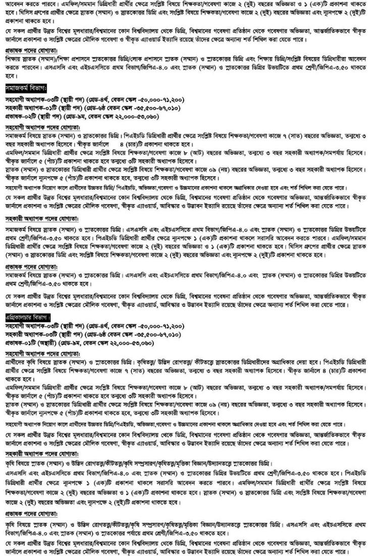NSTU Job Circular 2019
