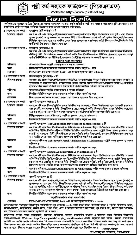 PKSF Job Circular 2019