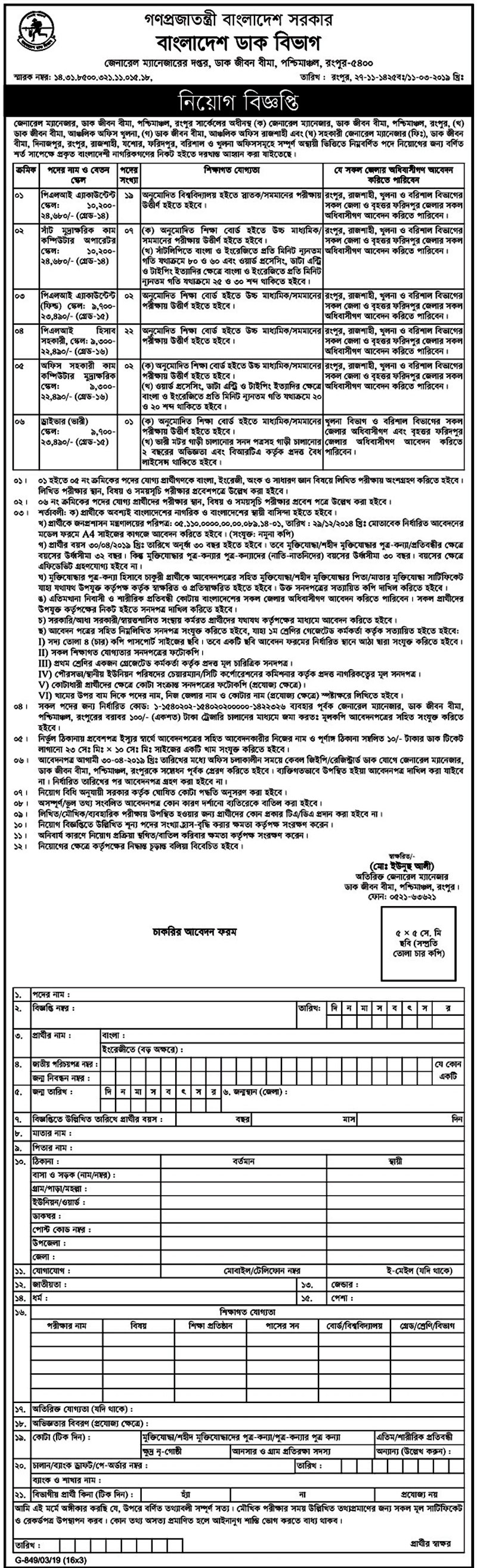 Post Office Job 2019,Govt job Post Office Job 2019