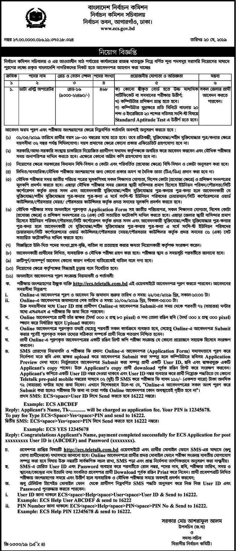 Election Commission Job Circular 2019