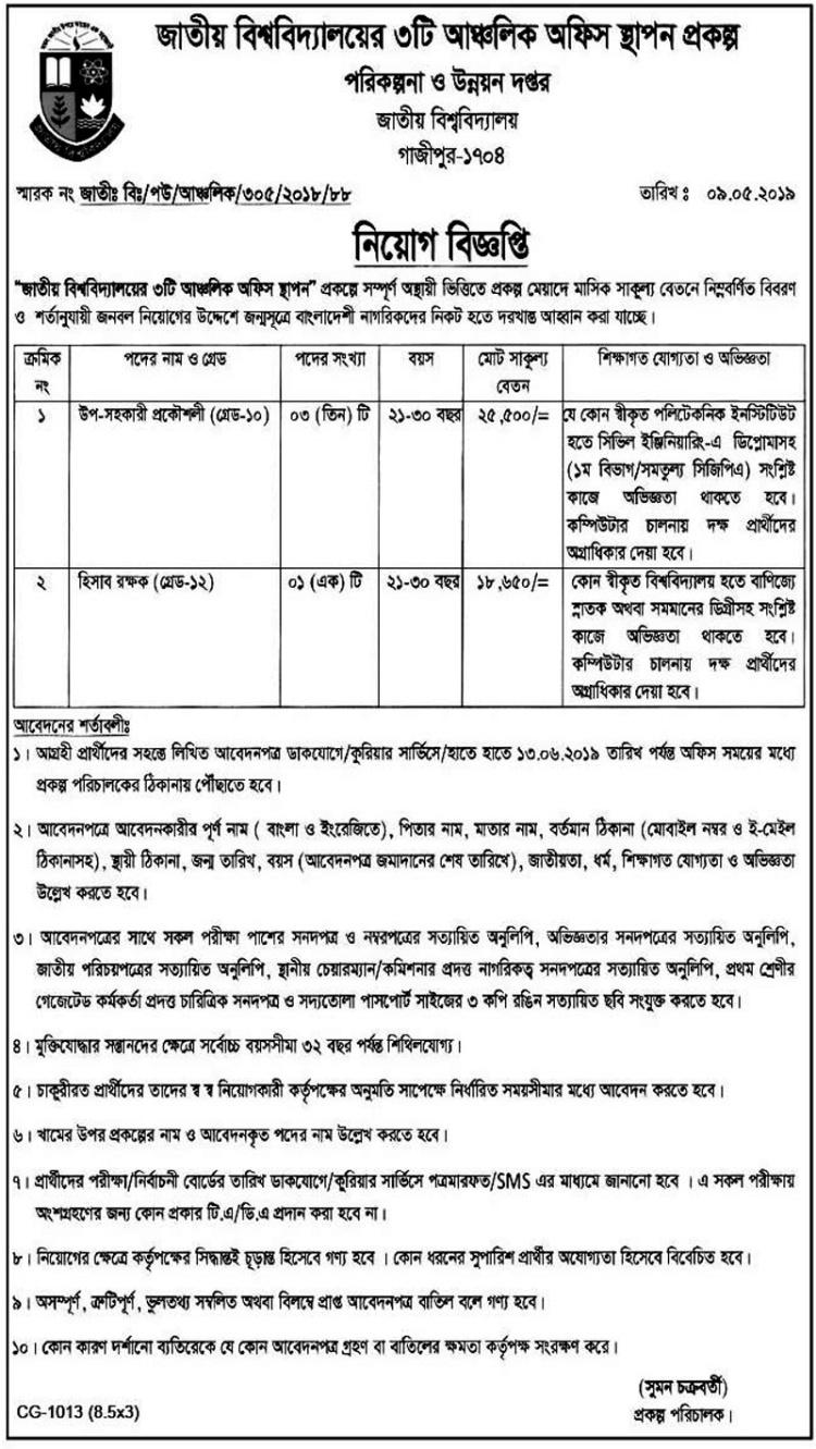 National University Job 2019