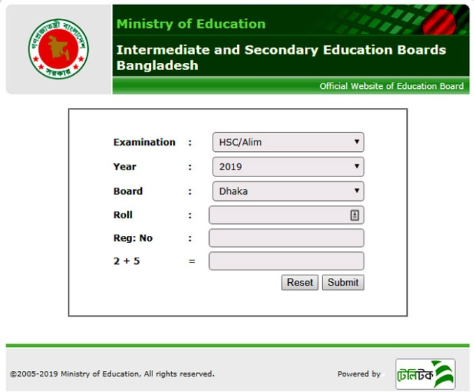 HSC Result 2019 All Education Board